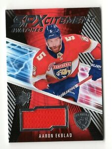 AARON EKBLAD NHL 2018-19 SPX SPXCITEMENT SWATCHES (FLORIDA PANTHERS)