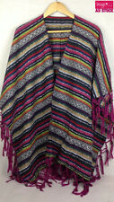 Mexican Poncho Mexico Cowboy Bandit Wild West Fancy Dress Costume Party 12469