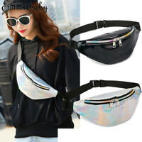 Fashion Waist Fanny Pack Women PU Leather Belt Zipper Waist Bag Casual Chest Bag