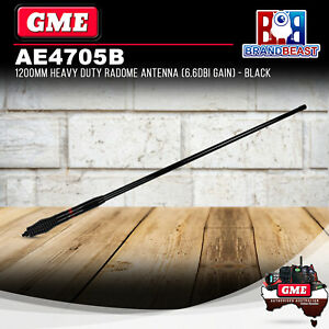 GME AE4705B UHF Heavy Duty Radome Antenna Black 6.6Dbi