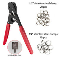"""PEX Cinch Crimp Crimper for Stainless Steel Clamps from 3/8""""- 1"""" Fastening tool"""