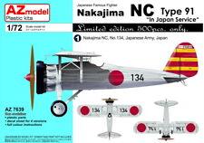 "AZ Model 1/72 Nakajima NC Type 91 ""in Japan Service"" # 7639"