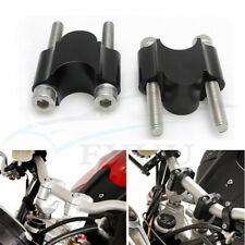 "1 Pair CNC Motorcycle 7/8"" 22mm Handlebar Riser Kit Raise Clamp Mount Universal"