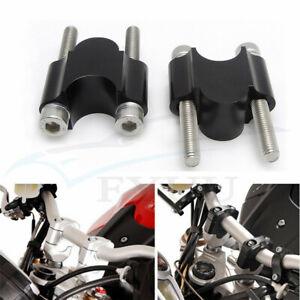 """1 Pair CNC Motorcycle 7/8"""" 22mm Handlebar Riser Kit Raise Clamp Mount Universal"""