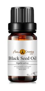 RAW BLACK SEED OIL - Cold Pressed - Unrefined - Black Cumin (Nigella sativa)