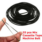 35PCS Mix Cassette Tape Machine Belt Assorted Common Universal Belt Useful New