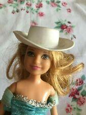 Stacie Barbie Doll Hat Solid White Cowboy Western Style Marked Hong Long 8850 02