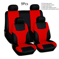 Universal Car Seat Covers Full Set Protectors Washable Dog Pet Front Rear Red