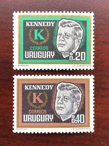 Uruguay 1965 Scott #714-715 Death of John F. Kennedy Mint NH