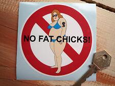 NO FAT CHICKS Hot Rod & Personalizzazione Auto cattivo gusto(?) adesivo