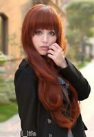Matt dull big wave full wig  Girls wigs 180℃ heat resistant hair,can be restyled