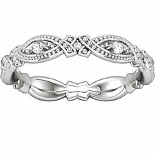 1.00 ct Ladies Round Cut Diamond Eternity Wedding Band Ring in 18 kt White Gold