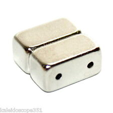 MAGNETIC JEWELRY CLASP DOUBLE STRAND 10 CLASPS SILVER COLOR 12X6X6MM MC12N