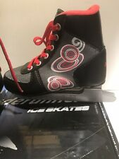 Blade Runner Zig Zag 6.0 Ice Skates Black/Grey 11J Junior Boys Recreational