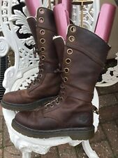 Doc Martens Shearling Faux Fur Lined Triumph 1914 Boots Uk4/37 12hole Stunning