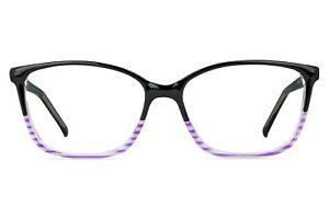Carousel Sinead Ladies Glasses with Black/Stripe Print Frame 54-16-140