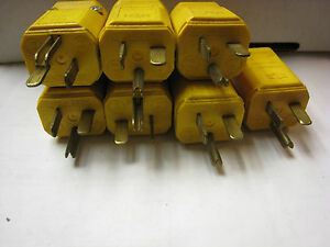7yes all 7 - Male GE  cord Plug ends W-C-596/42-1  made USA - NO BOXS
