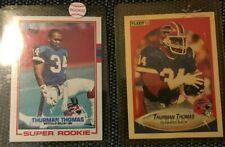 1989 Thurman Thomas Super Rookie Card Topps #45 Buffalo Bills 2 cards
