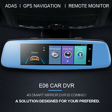 8'' Car DVR 1080P Auto Lens Camera GPS Android 5.1 Dash Rear View Cam Mirror 4G
