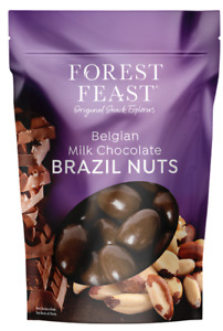 Forest Feast Belgian Milk Chocolate Brazil Nuts in Resealable Bag 700gm
