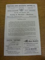 30/09/1965 Tooting And Mitcham United v Maidstone United  (Four Pages, Light Mar