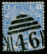 Sg157, 2 1/2 D Blue Plate 23, good used. Cat £ 35. Ib