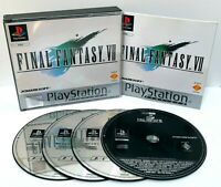 Final Fantasy VII 7 ~ Sony PlayStation PS1 Platinum Game ~ PAL *Excellent w Demo