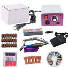 Professional electric acrylic nail drill file machine kit with bits Manicure USA
