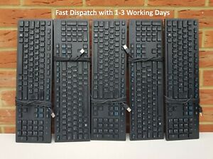 Dell USB Keyboards, Lot of 5 Keyboards. DELL KB216t Wired Corded USB Keyboards