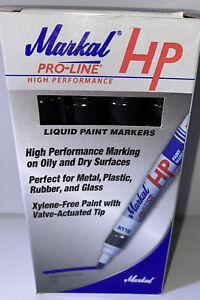 MARKAL 96963 Paint Marker, Permanent, Black Box Of 12 NEW