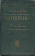 Lanchester Fourteen 14 Saloon Original Handbook circa 1952 Pub. No. 17/010/2050