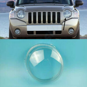 For Jeep Compass 2007~2010 Left Side Headlamp Clear Lens Cover+Sealant Glue