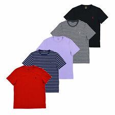 Polo Ralph Lauren personalizado Mens Camiseta Calce Ajustado Mangas Cortas Escote Redondo Camiseta