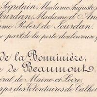 Octave Bonnin De La Bonninière De Beaumont Château Plessis-au-Maire Noyant 1892