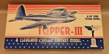 "Vintage Cleveland Models ""Topper-III"" Control Line Tether Model Airplane Kit"