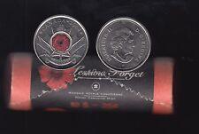 2004 - B.Unc Roll - Poppy - Canada 25 Cents - E261