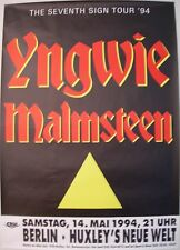 YNGWIE MALMSTEEN CONCERT TOUR POSTER 1994 SEVENTH SIGN