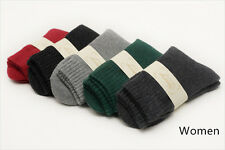 5 Pairs Wool Cashmere Men/Women Thick Warm Dress Casual Solid Socks Lot Winter