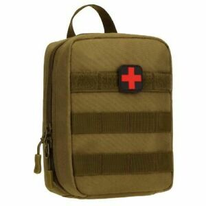 First Aid Kit Camping Emergency Medical Bag Survival Trauma Tactical Travel Case
