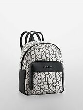 NWT Calvin Klein Kira Hailey City small Backpack Lurex light putty