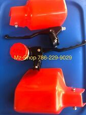MZ TS ETZ 250/251/301 HANDLE COVER RED AND BRAKE PUMP SET