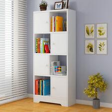 8 Cube White Bookshelf Storage Shelves Shelving Display Book Unit Bookcase Rack