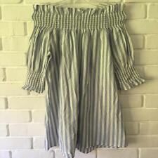Spring Striped Regular Size Dresses for Women