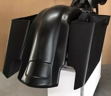 """Dual Exhaust Stretched Saddle Bags 6"""" Inches Fender Harley Davidson Touring Flh"""