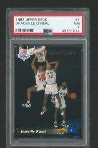1992 Upper Deck Shaquille O'Neal Magic #1 RC Rookie Card PSA 7 Near Mint NM JC