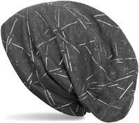 Bonnet avec motif à lignes métalliques et brillants, bonnet mou