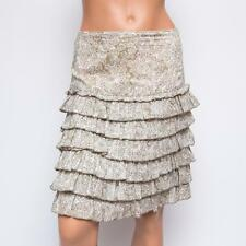 Anna Sui for Anthropologie Floral Tiered Cotton Skirt US0 $330