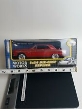 1964 Chevrolet Impala Hard Top 1:24 Diecast Model Car Red New Box Issues