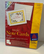 Avery Ink Jet Note Cards White Embossed #3256