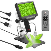 "Andonstar AD407 270X 3D Digital Microscope with 7"" Adjustable Screen and Bracket"